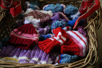 Ada Spanier, 99, knitted dozens of hats this year for children who have been affected by domestic violence. - Antonio Perez/Chicago Tribune/TNS