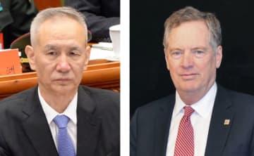 中国の劉鶴副首相、ライトハイザー米通商代表