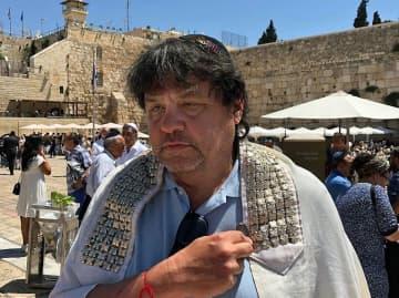 Steve Goldberg of Clifton at the Wall in Jerusalem in July 2019. (Courtesy Steve Goldberg/)