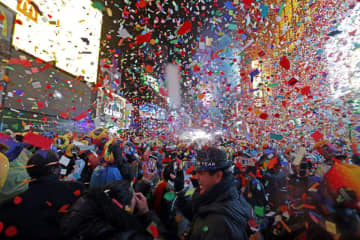 New Year's Eve is an evening typically filled with social gatherings, fireworks and watching the ball drop to celebrate. (Adam Hunger/AP Photo) (Adam Hunger/)