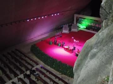 洞窟の中で新年迎えるコンサート 浙江省台州市