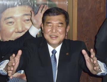 新年の会合に参加した自民党の石破元幹事長=1日、鳥取市