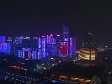 杭州市の年越し!ライトアップショーで2020年がスタート