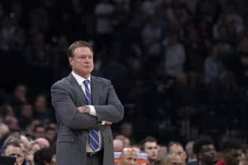 Head coach Bill Self of the Kansas Jayhawks looks on against the Villanova Wildcats in the second half at the Wells Fargo Center on Dec. 21, 2019 in Philadelphia, Pa. - Mitchell Leff/Getty Images North America/TNS