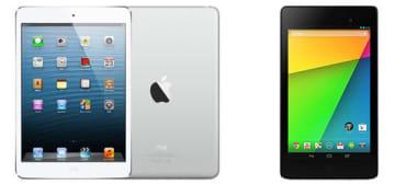 キャプション:iPad mini(第1世代)(左)、NEXUS7(2013)(右)
