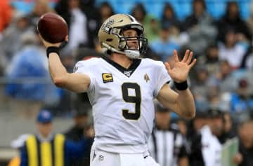 New Orleans Saints quarterback Drew Brees drops back to pass against the Carolina Panthers at Bank of America Stadium in Charlotte, N.C., on December 29, 2019. - Streeter Lecka/Getty Images North America/TNS