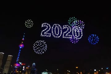 「ドローン+交響楽」で迎える上海の年越し