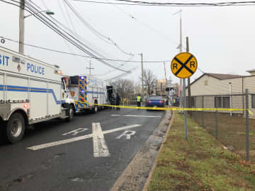 A New Jersey Transit train struck an car, killing two women in Middlesex Borough on Friday, Jan. 3, 2020. (Katie Kausch/)