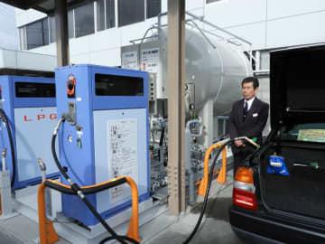 タクシー会社にLPガス貯蔵施設完成 発電や炊き出しに活用へ 京都・亀岡