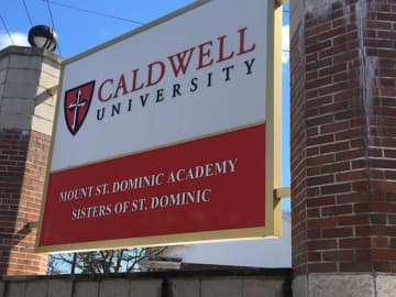 Caldwell University sign at the entrance to school's campus in Caldwell. (Ted Sherman | NJ Advance Media for NJ.com/)