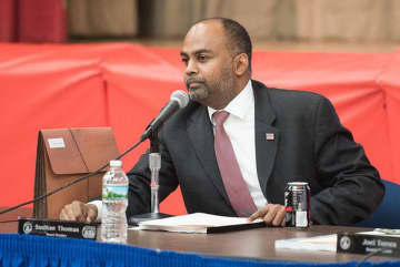 Sudhan Thomas was elected to Jersey City's school board in November 2016. (Reena Rose Sibayan | The Jersey Journal/)