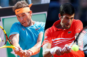 ※写真はジョコビッチ(右:Photo by Clive Brunskill/Getty Images)とナダル(左:Photo by Giuseppe Maffia/NurPhoto via Getty Images)