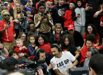 Jalen Suggs attracted social media posters at his Minnesota high school in announcing on ESPN2 on January 3, 2020, that he will play at Gonzaga. - David Joles/Minneapolis Star Tribune/TNS