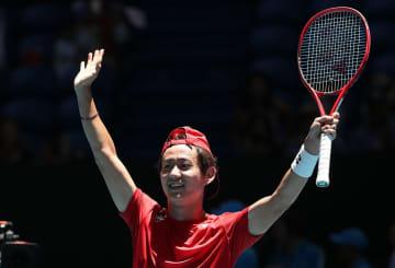 「ATPカップ」での西岡