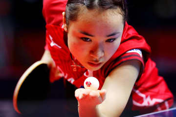 伊藤美誠 写真:西村尚己/アフロスポーツ