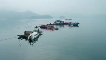 漁獲量40トン!千島湖の新年最初の巨大網漁