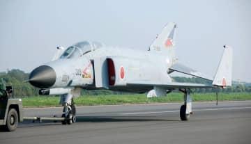 F4戦闘機=茨城県小美玉市の航空自衛隊百里基地