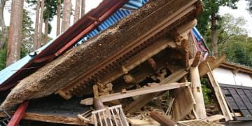 多くの建物が被害を受けました