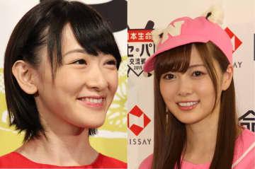 生駒さん(左)と白石さん(右)。卒業する盟友に感謝