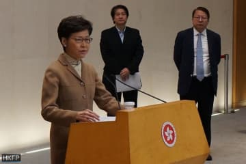 Chief Executive Carrie Lam. Photo: Kris Cheng/HKFP.