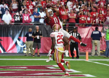 Larry Fitzgerald makes TD catch in OT, Cardinals beat 49ers 18-15