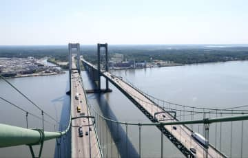 The view of the Delaware Memorial Bridge, from the Delaware-bound span tower looking toward New Jersey, Wednesday, Aug. 26, 2015. (Lori M. Nichols | For NJ.com) SJN (Lori M. Nichols/)