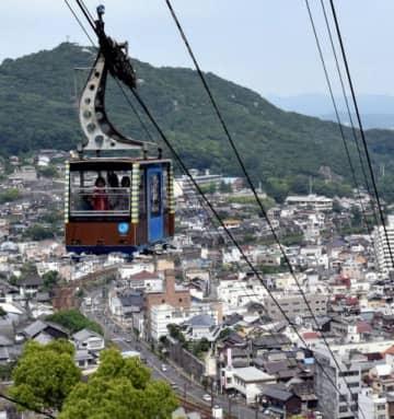 尾道市中心部を一望できる千光寺山ロープウェイ