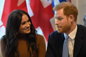 Meghan Markle and Prince Harry, Duchess and Duke of Sussex, on Jan. 7. They say they plan to become financially independent and split their time between North America and the United Kingdom. (WPA Pool/)