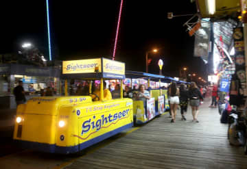 A Tram car is driven down the Boardwalk in Wildwood, Friday, July 20, 2018. Lori M. Nichols | For NJ.com (Lori M. Nichols | For NJ.com/)