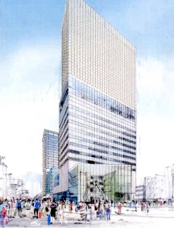 「三角地帯」再開発のハピテラスから見た完成イメージ図(福井県配布資料より)