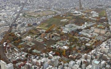 北海道大キャンパス=2019年11月、札幌市(共同通信社ヘリから)