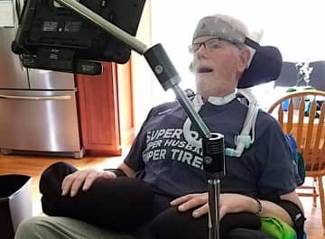 Todd Duffy, a retired police officer in Sussex County, lost benefits that would have paid for his ALS medication. (Facebook/)