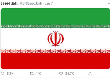 Tweet from Saeed Jalili