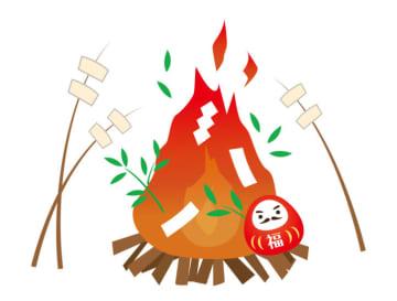 <開催中止>丸子山王日枝神社の「どんど焼き」多摩川第1広場で【2020年1月12日】川崎市中原区