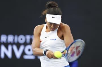 女子テニスのブリスベン国際でプレーする大坂なおみ(AP=共同)