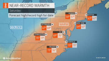 Temperatures may soar into the 60s on Saturday and could make a run for the upper 60s on Sunday, making it feel more like spring than winter. (AccuWeather/)