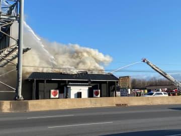 Smoke pumps from the 35 XXXV Gentlemen's Club in Sayreville Jan. 10, 2020. (Katie Kausch/)