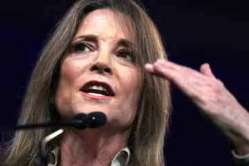 Democratic presidential candidate Marianne Williamson announced she would be suspending her campaign. (Justin Sullivan/)