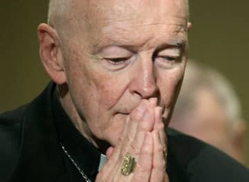 Then-Cardinal Theodore McCarrick prays during the United States Conference of Catholic Bishops' annual fall assembly in Baltimore in 2011. (Patrick Semansky | AP Photo) (Patrick Semansky | AP Photo/)