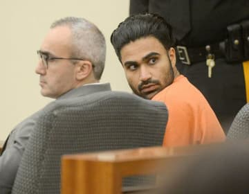 Jatinder S. Bhatti, right, is shown during a 2017 court appearance at Gloucester County Justice Complex. Bhatti pleaded guilty to vehicular homicide in the death of Dominic Santangelo. (Joe Warner/)