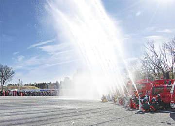 中原地区消防出初式はとどろきアリーナで!式と演技披露の2部制 一斉放水は等々力緑地で【川崎市】