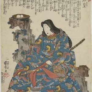 (歌川国芳・作『神功皇后』。勇猛果敢な女神であることが伝わってくる)