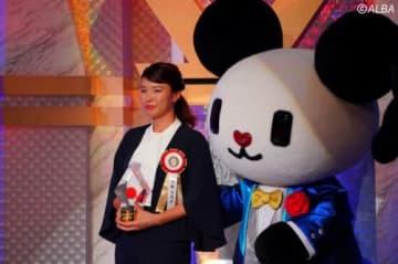 テレビ朝日ビッグスポーツ賞の表彰式に出席した澁野日向子(撮影:福田文平)