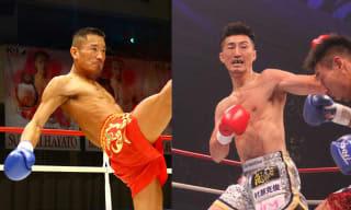 1月のKrushで対戦決定した山崎(右)と堀井(左)