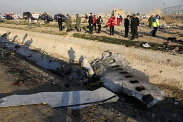 """Iran announced Saturday that its military """"unintentionally"""" shot down the Ukrainian jetliner that crashed earlier this week, killing all 176 aboard. ((AP Photo/Ebrahim Noroozi)/)"""