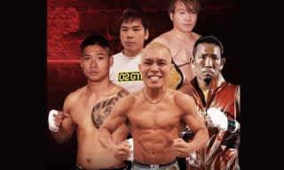 強豪ミャンマー勢を迎える日本勢。前列左からJOE、東、真虎斗、後列左から長島、殿