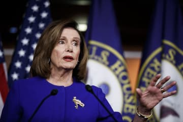 House Speaker Nancy Pelosi speaks during a news conference on Capitol Hill in Washington, D.C., on January 9, 2020. - Ting Shen/Xinhua/Zuma Press/TNS