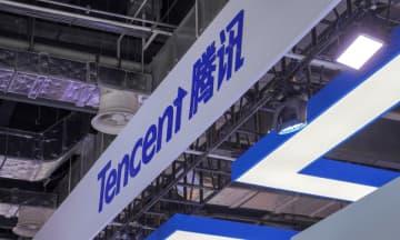 Tencent booth at WAIC on Aug 30, 2019 in Shanghai. (Image credit: TechNode/Shi Jiayi)