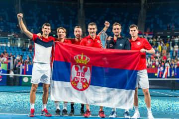 「ATPカップ」初代優勝国に輝いたセルビアチーム