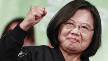 台湾総統選、蔡英文氏が圧勝で再選 中国は見誤った?